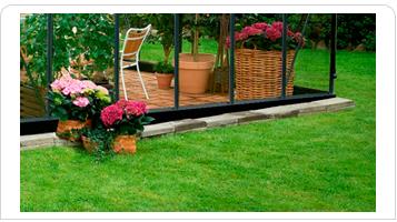 Drivhussokkel til Juliana Gartner 21,4 m2 drivhus