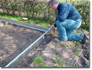 Foretag diagonalmål af fundamentet