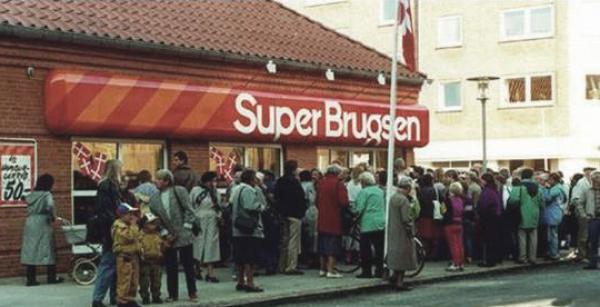 BuperBrugsen-butik på åbningsdagen