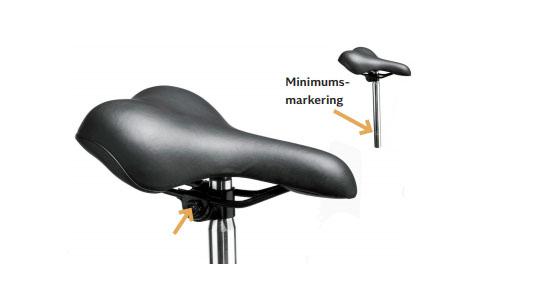Indstilling af sadel på Mustang cykel