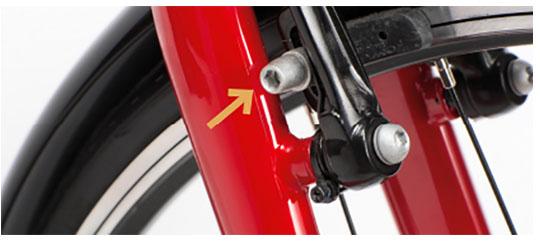 Centreringsskrue på Mustang cykel
