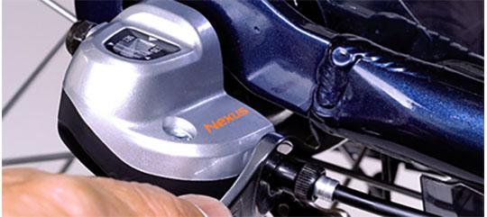 Justering af gearkabel på Mustang cykel