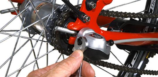 Afmontering af Nexus tre gear på Mustang cykel