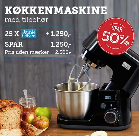 Køkkenmaskine med tilbehør